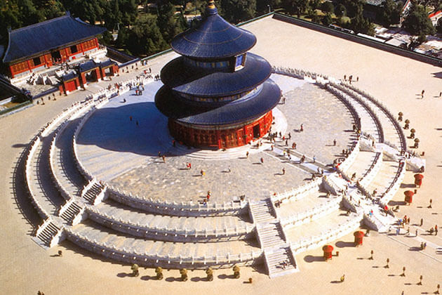 A bird eye view of Temple of Heaven