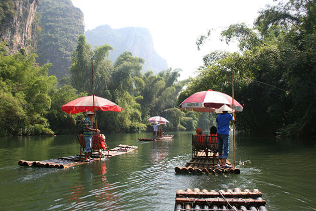 Bamboo Rafting on the Li River from China adventure tour