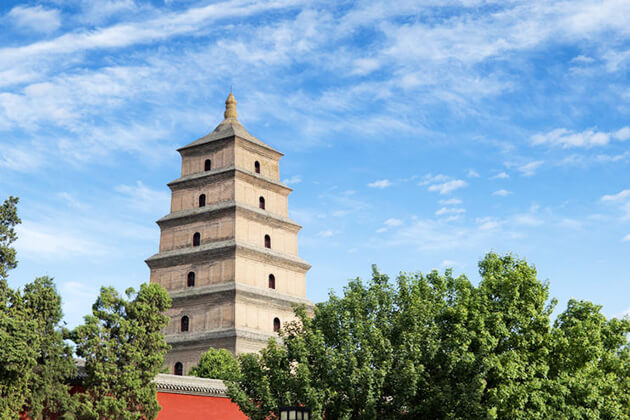 Big Wild Goose Pagoda in China