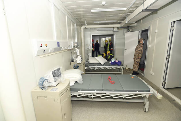 Build a 1000-bed Field Hospital within 10 Days