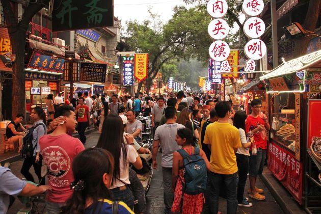 Bustling atmosphere at Muslim Quarter