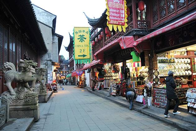 Chenghuang Miao Street in Shanghai