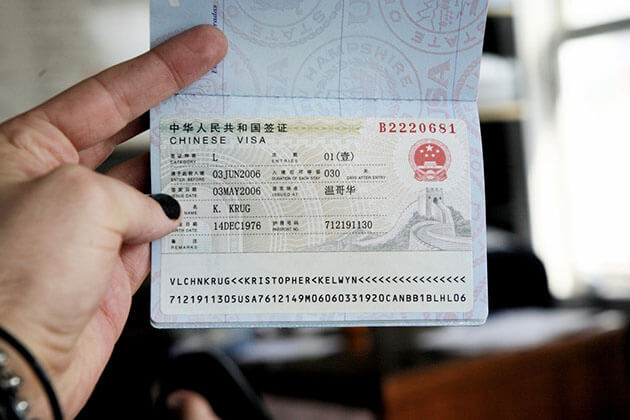 Chinese Visa when travel to China