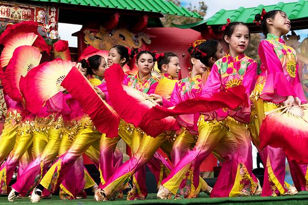 Dance performance in Chinese festival