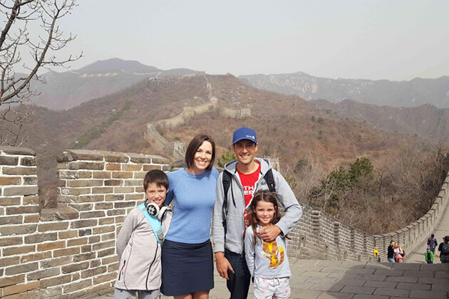 Family visit Mutianyu of Great Wall