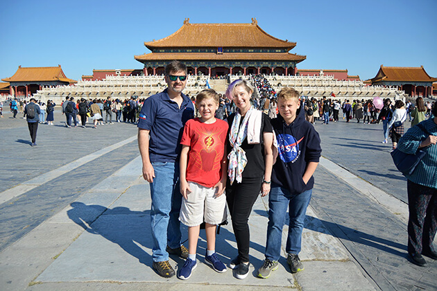 Forbidden City visiting from China Family Tours