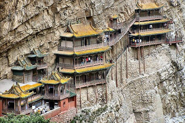 Hanging Temple - a spot in China tour packages