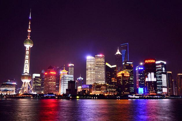 Huangpu River, Shanghai at night