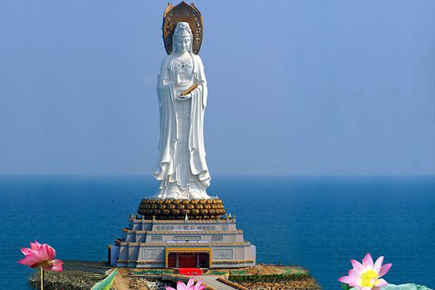 Nanshan Temple visiting in China tour