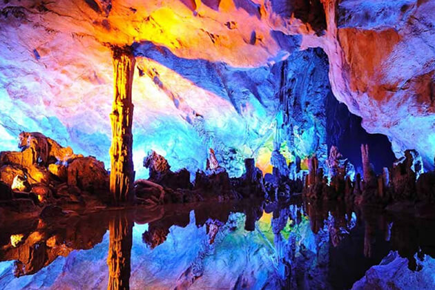 Reed Flute Cave exploration in Guilin tour