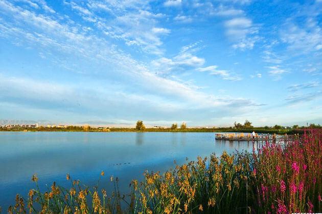 Stunning view of Zhangye National Wetland Park
