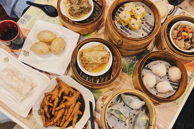 Traditional Cantonese food in China Silk road
