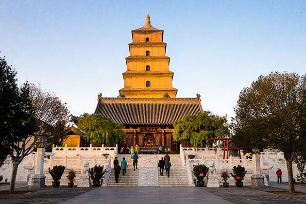 Visit giant-wild-goose-pagoda Xian in China tour