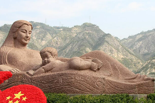 Yellow River Mother Statue in Lanzhou, China