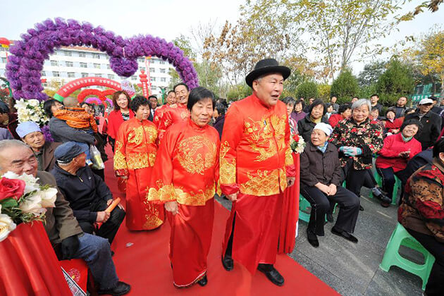 celebrate Double Ninth Festival in China