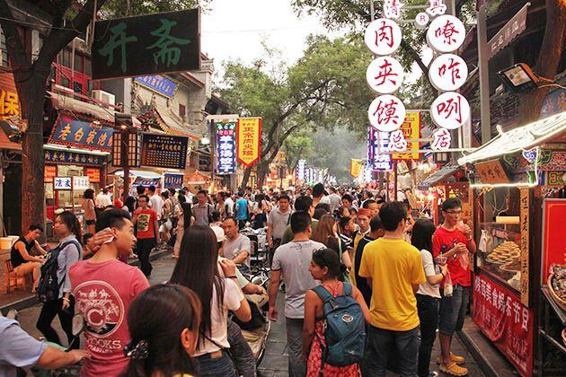 explore Muslim Street in Xian