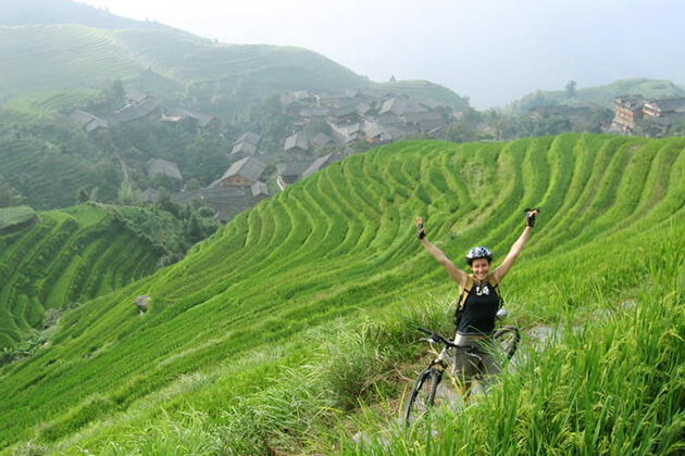 explore cycling at Longji Rice Terrace a must thing to do in China tours