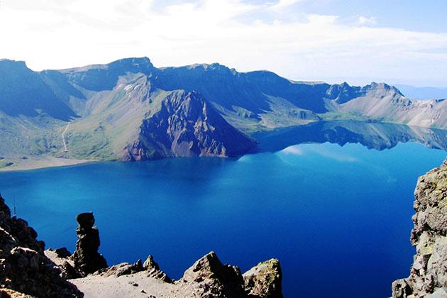 iconic Heaven Lake in China