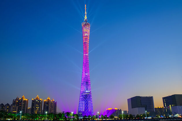 paranomic view of Canton Tower in Guangzhou