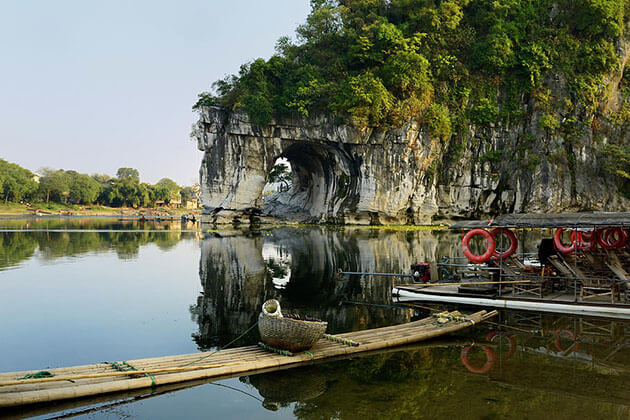 stunning Elephant Trunk Hill Park on Li River