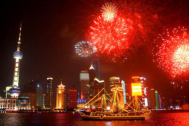 stunning Fireworks in Chinese New Year