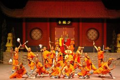 travelers of China tour enjoy Chinese Kung Fu show at the Red Theater