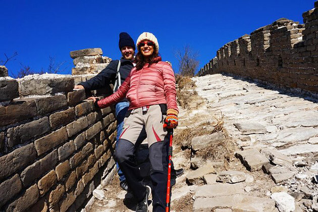 trekking along the Great Wall