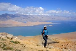 trekking around Karakul Lake from China Silk Road Tour