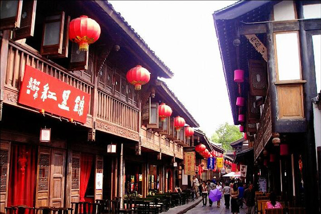 visit Jinli Ancient Street from China tours